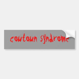 síndrome del cowtown pegatina de parachoque