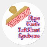Síndrome izquierdo plástico del corazón del Hypo Etiquetas Redondas