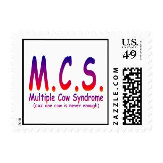Síndrome múltiple de la vaca sellos postales