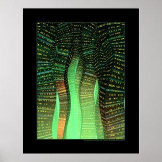 Sine City (Green) Print