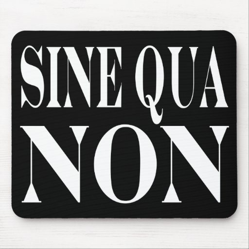 Sine Qua Non Famous Latin Quote: Words to live By Mousepad