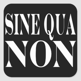 Sine Qua Non Famous Latin Quote: Words to live By Square Stickers