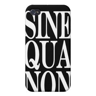 Sine Qua Non Latin Quote iPhone 4 Speck Case iPhone 4 Cover