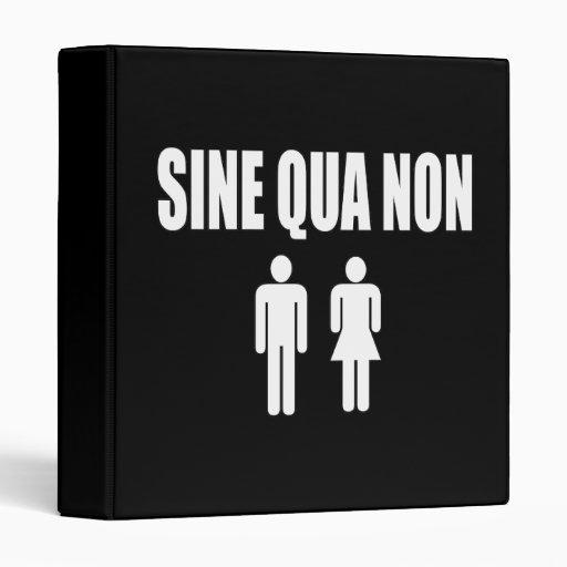 Sine Qua Non Romantic Latin Quote Valentine's Day 3 Ring Binders