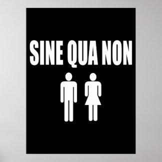 Sine Qua Non Romantic Latin Quote Valentine's Day Print