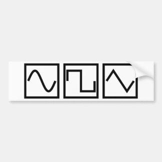 Sine Square Tri Bumper Sticker