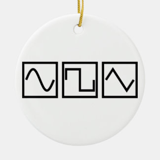 Sine Square Tri Ceramic Ornament