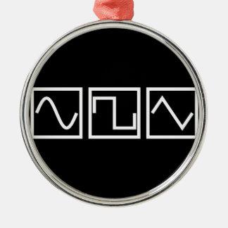 Sine Square Tri Metal Ornament