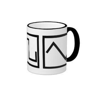Sine Square Tri Ringer Mug