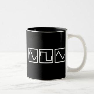 Sine Square Tri Two-Tone Coffee Mug