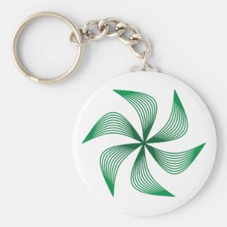 Sine waves circle sine wave circle basic round button keychain