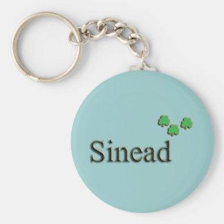 Sinead Irish Name Basic Round Button Keychain