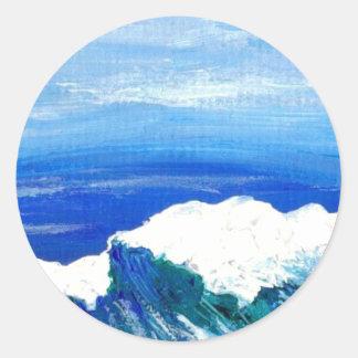 Sinergia - arte del océano de CricketDiane Etiqueta Redonda