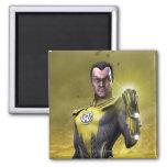 Sinestro 2 Inch Square Magnet
