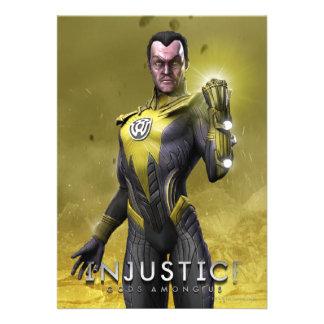 Sinestro Personalized Invitations