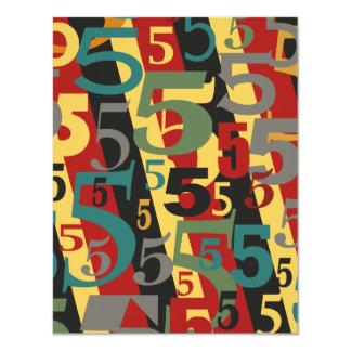 """Sinfonía # 5 quintos o quincuagésimos cumpleaños invitación 4.25"""" x 5.5"""""""