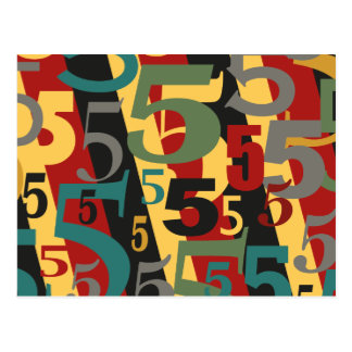Sinfonía # 5 quintos o quincuagésimos cumpleaños tarjetas postales