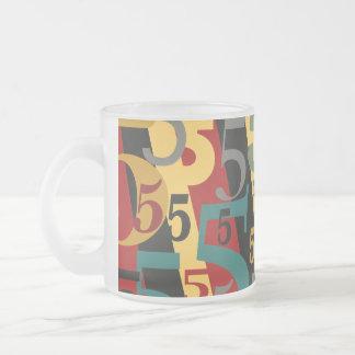 Sinfonía # 5 quintos o quincuagésimos cumpleaños taza de cristal