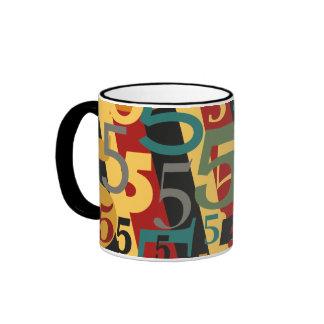 Sinfonía # 5 quintos o quincuagésimos cumpleaños taza de dos colores