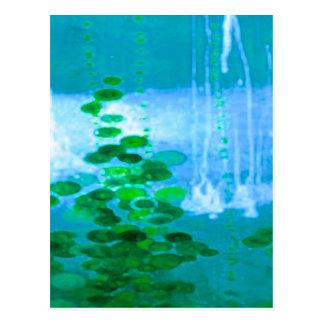 Sinfonía abstracta en azul y verde tarjeta postal