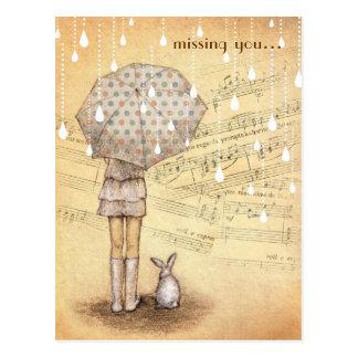 Sinfonía blanca de la lluvia que le falta postal d