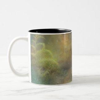 Sinfonía de estrellas taza de café de dos colores