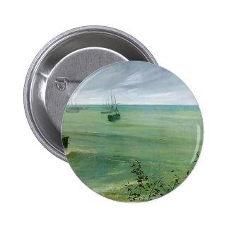 Sinfonía de la marmota de James en gris y verde, o Pin Redondo 5 Cm