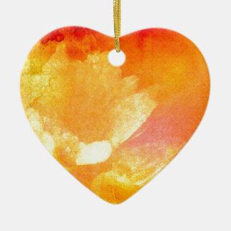 Sinfonía de la salida del sol adorno navideño de cerámica en forma de corazón