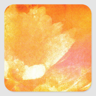Sinfonía de la salida del sol pegatina cuadrada
