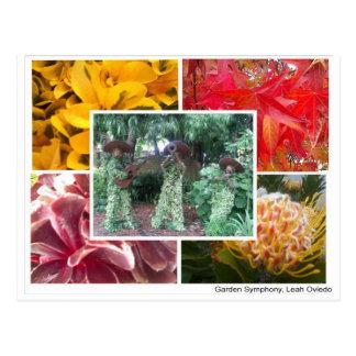 Sinfonía del jardín tarjetas postales