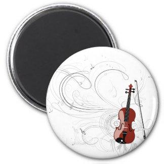 Sinfonía del violín imán redondo 5 cm
