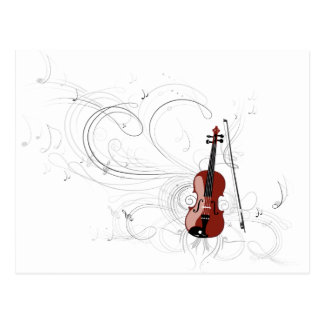 Sinfonía del violín tarjetas postales