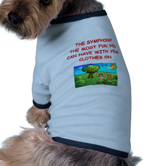 sinfonía camisetas de mascota