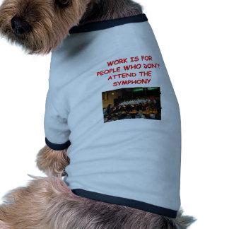 sinfonía camisetas mascota