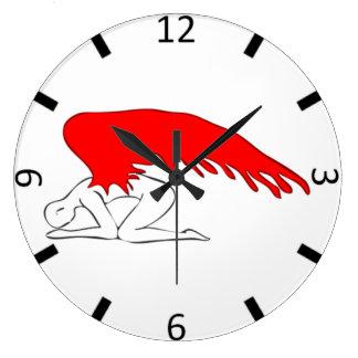 Sinful Angel Large Clock