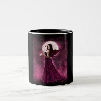 Sinfuly pink Two-Tone coffee mug