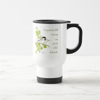 Sing a New Song to the Lord, Scripture & Bird Coffee Mug
