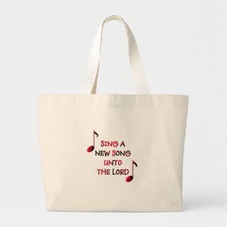 Sing a new song unto The Lord - 23 Large Tote Bag