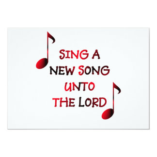 Sing a new song unto The Lord Card