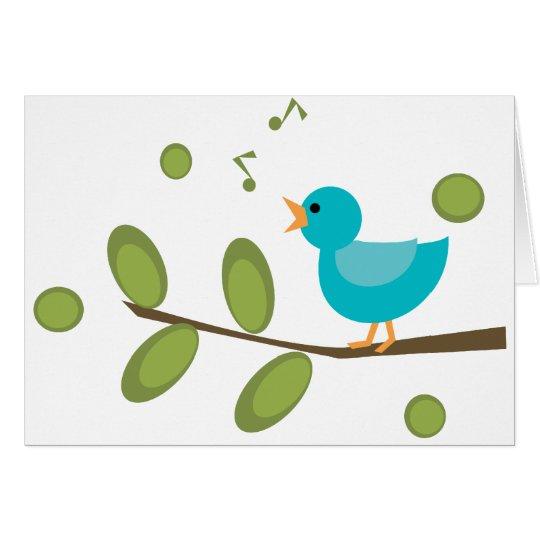 Sing a Song Bird Card