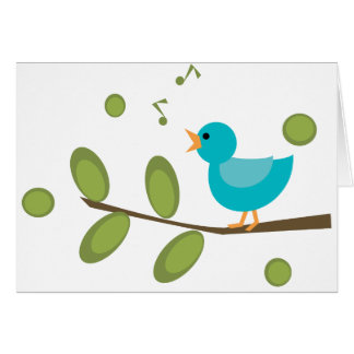 Sing a Song Bird Greeting Card