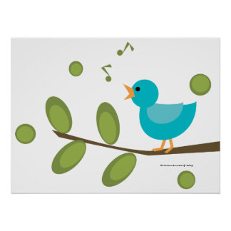 Sing-a-Song Bird Poster