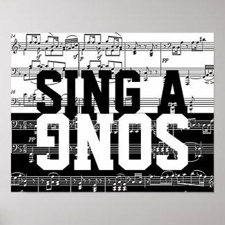 sing a song black & white music print