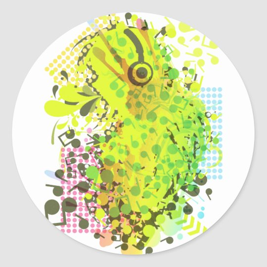 Sing_A_Song Classic Round Sticker