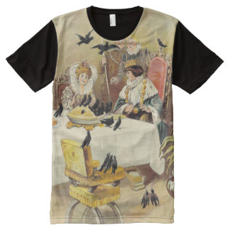 Sing a Song for Sixpence Vintage Nursery Rhyme All-Over-Print T-Shirt