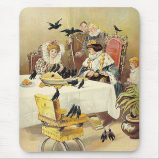 Sing a Song for Sixpence Vintage Nursery Rhyme Mouse Pad