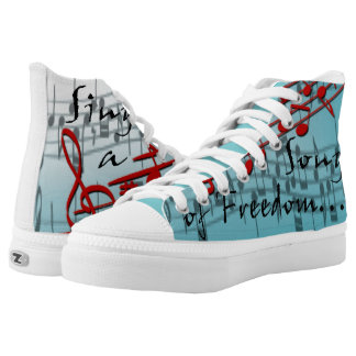 Sing a song of freedom High-Top sneakers