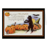 Sing a Song of Halloween Card