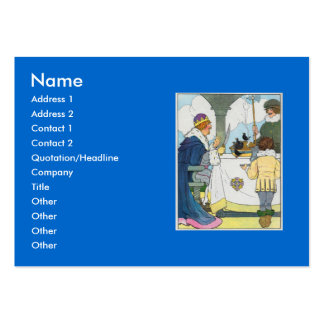 Sing a song of sixpence, A pocket full of rye Large Business Cards (Pack Of 100)