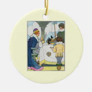 Sing a song of sixpence, A pocket full of rye Ceramic Ornament